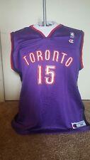VTG Champion Mens Toronto Raptors Vince Carter Purple Black Jersey Large 44 RARE