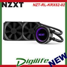 NZXT Kraken X52 240mm AIO Liquid CPU Cooler PC Gaming RL-KRX52-02