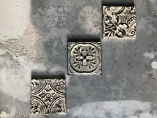 Architectural Salvage Vintage Ceiling Tin Framed Art From NYC
