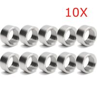 10x M18 x1.5 O2 Oxygen Sensor Stainless Exhaust Weld-On Nut Plug For Lambda