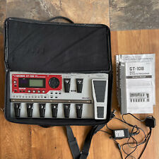 More details for boss gt-10b multi effects processor, adaptor, case. superb! free post within uk