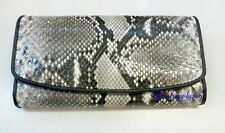 100% Genuine Python snake wallet women's Leather Lady clutch Trifold unique New