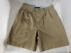 Tommy Hilfiger Mens Brown Shorts Size 32 Pleated Casual Dress