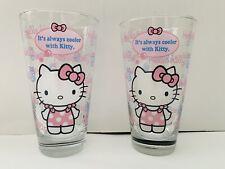 Sanrio Original Hello Kitty Pint Glass Set! HTF!