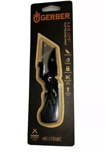 RARE BLACK GERBER E.A.B. ( EAB ) LITE CLIP  FOLDING UTILITY KNIFE NEW EDITION