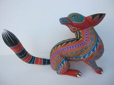 MEXICAN OAXACA CARVINGS AMAZING FOX  MEXICAN FOLK ART