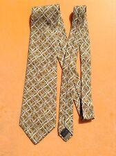 Eccellente ZEGNA Vintage Cravatta di seta... infarto del miocardio ITALIA