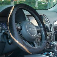 "ATMOMO 15"" Car Shiny Steering Wheel PU Leather Cover Crystal Bling Rhinestone"
