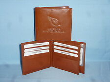ARIZONA CARDINALS   Leather BiFold Wallet    NEW    brown 4 +