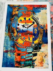 Rolex wall art canvas paintings abstract.. Size 24x36 Inch *Frame Not  Included*