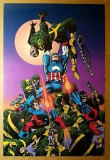 New ListingCaptain America Moon fight Marvel Comics Poster by Jim Steranko
