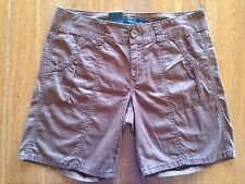 NWT Women's Calvin Klein Brown Casual Shorts Size 6 100% Cotton MSRP $49.50