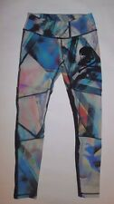 SOULCYCLE YOGA LEGGING MULTI COLORED BLACK SKULL PILATES RUNNING DANCE EUC sz S