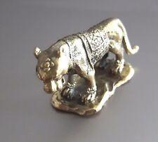 1 Pcs Feng Shui Brass Tiger Figurine Handcraft Zodiac Brave Confident