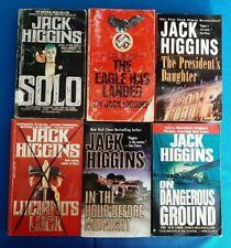 Jack Higgins   Crime Thriller. Lot of 6 Books