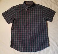 Vintage Nautica Button Down Long Sleeve Mens Size L Green Red White Plaid Rare