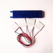 162*40mm Liquid Cooling Block 4 TEC1-12706 Peltier TEC Cooler Heatsink CPU W50