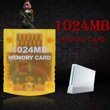 1024MB Game Speicherkarte Block für Nintendo Wii Gamecube GC-Spielekonsole Gelb