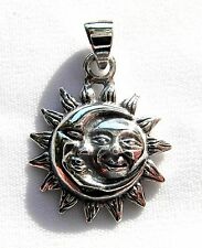 Sterling  Silver  (925)  Sun In  Moon   Pendant  (2 Gram)  !!    Brand  New  !!