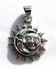 Plata Esterlina (925) Colgante de Luna Sol en (2 gramos)!!!!!! nuevo!!!!!!