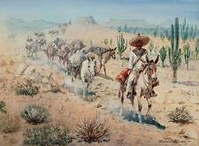 Vaquero Pack Train  by Edward Borein  Giclee Canvas Print Repro