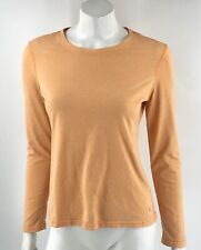 Danskin Now Athletic Top Size Medium Orange Long Sleeve Gym Tee Shirt Womens