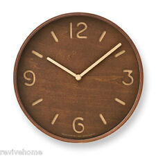Modern Thomson Wooden Wall Clock | Lemnos Japan | Unique
