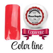 14A Rosso fragola  GEL UV COLOR LINE RICOSTRUZIONE UNGHIE glass effect nail art