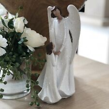White Guardian Angel Mother & Daughter Figurine Home Decoration Figure Ornament