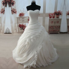 Real Photo Princess Ruffle Sweetheart Wedding Dress Bridal Ball Gown Custom Made