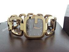 NEW Gucci G-Gucci Medium Yellow Gold PVD Swiss Quartz Women's Watch YA125408