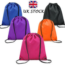 UK Waterproof Nylon Storage Bags Drawstring Backpack Baby Travel Shoes Pouch BRO