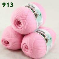 Sale Lot of 3 Balls x50gr LACE Soft Acrylic Wool Cashmere hand knitting Yarn 913