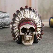 Indian Style Tabletop Skull  Shape Ornament Decoration