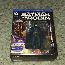 Batman vs Robin Blu-Ray + DVD boxset with Figurine Action-Figure, Steelbook RARE