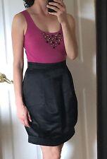 NEW $178 MAX & CLEO BCBG Pink Black Bead Embellished Dress Flattering S Designer