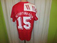 """SC Fortuna Köln Original Patrick Matchworn Trikot 1992/93 """"porta"""" + Nr.15 Gr.L"""