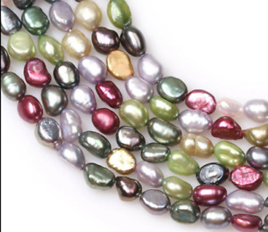 """5-6mm Multi Color Freeform Freshwater Pearl For Jewelry Craft Making 15"""""""