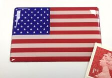 USA Stars & Stripes Flag Sticker Super Shiny Domed Finish 64mm