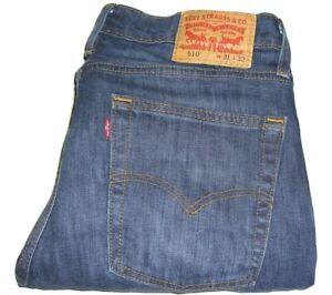 Mens LEVI'S 510 Dark Blue (0033) Skinny Fit Stretch Denim Jeans W31 L32