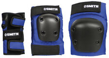 Smith Scabs Safety Gear -  YOUTH 3 PACK - BLUE - skateboard Jr Roller Derby