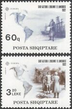 Albania 1992 Columbus/Ships/Sailing/People/Exploration/Transport 2v set (n33866)