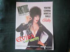 "Elvira Hand-Signed Original 1989 ""Party Monsters"" Pinball Manual"