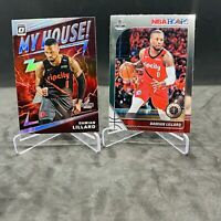 (2) 2019-20 Damian Lillard Donruss Optic My House Silver  #10 BLAZERS Lot