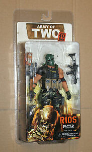 NECA ARMY OF TWO 40TH DAY RIOS PLAYER SELECT ACTION FIGURE