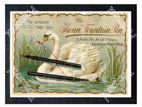 Historic Swan Fountain Pen, Mabie Todd & Bard 1890 Advertising Postcard