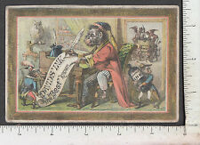 A025 Davids' writing Ink anthropomorphic monkey trade card James R. Chilton NYC