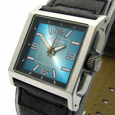 Faux Leather Band Men's Casual Square Watches
