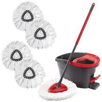 FP- BU_ 360° Spin Magic Mop Head Refill Replacement Wring Mopping Heads Easy Cl