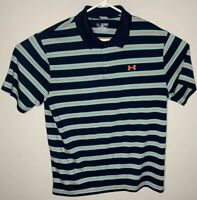 Under Armour Golf Mens Polo Shirt Heatgear 2XL Multicolor Stripe Loose Fit